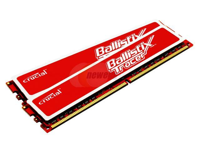 Crucial Ballistix Tracer 4GB (2 x 2GB) 240-Pin DDR2 SDRAM DDR2 800 (PC2 6400) Dual Channel Kit Desktop Memory Model BL2KIT25664AR804