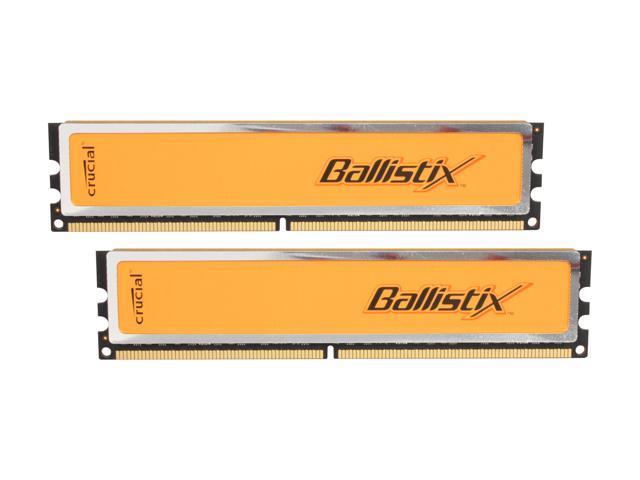 Crucial Ballistix 4GB (2 x 2GB) 240-Pin DDR2 SDRAM DDR2 800 (PC2 6400) Dual Channel Kit Desktop Memory Model BL2KIT25664AA80A