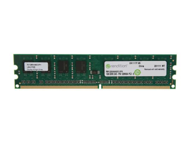 Rendition by Crucial 1GB 240-Pin DDR2 SDRAM DDR2 800 (PC2 6400) Desktop Memory Model RM12864AA800
