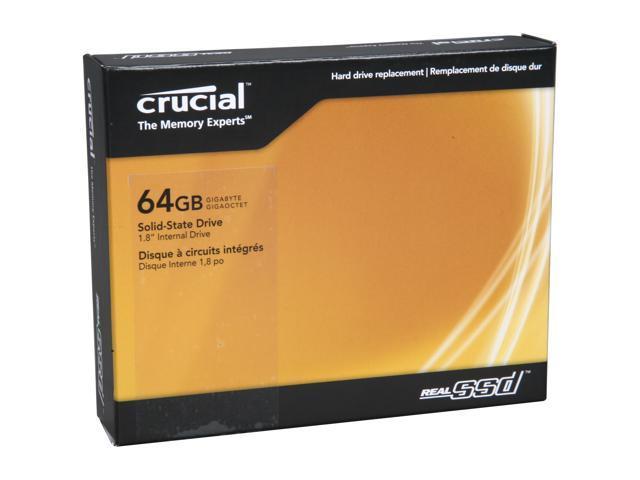 "Crucial RealSSD C300 1.8"" 64GB SATA III MLC Internal Solid State Drive (SSD) CTFDDAA064MAG-1G1"