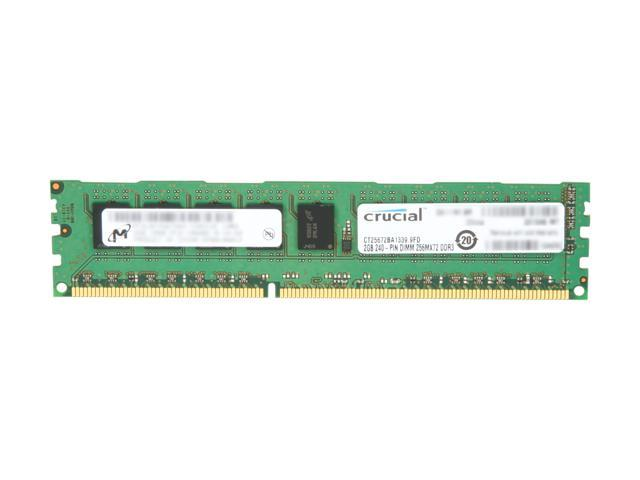 Crucial 2GB 240-Pin DDR3 SDRAM ECC Unbuffered DDR3 1333 (PC3 10600) Server Memory Model CT25672BA1339