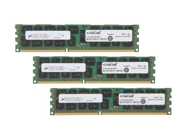 Crucial 24GB (3 x 8GB) 240-Pin DDR3 SDRAM ECC Registered DDR3 1333 (PC3 10600) Server Memory Model CT3KIT102472BB1339
