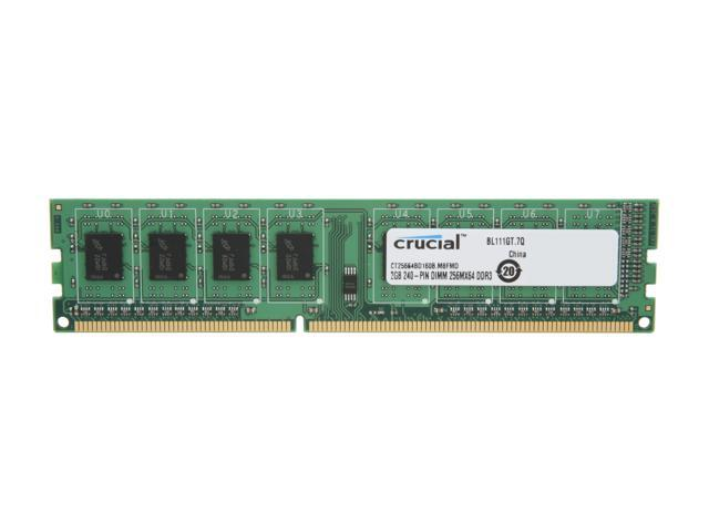 Crucial 2GB 240-Pin DDR3 SDRAM DDR3 1600 (PC3 12800) Desktop Memory Model CT25664BD160B
