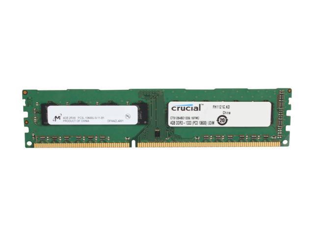 Crucial 4GB 240-Pin DDR3 SDRAM DDR3 1333 (PC3 10600) Desktop Memory Model CT51264BD1339