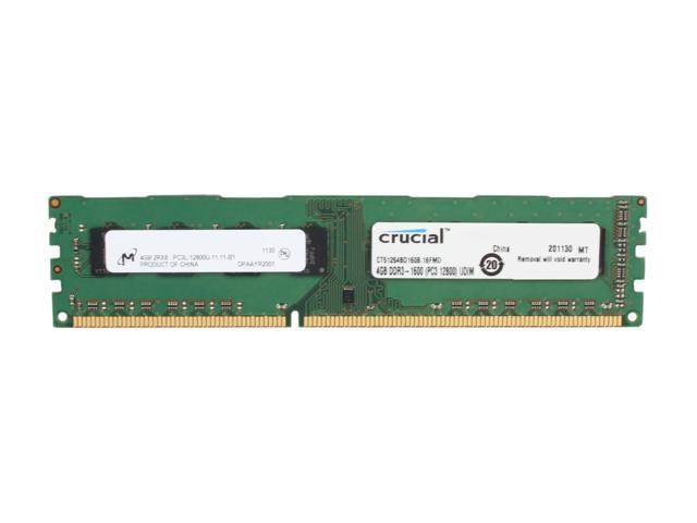 Crucial 4GB 240-Pin DDR3 SDRAM DDR3 1600 (PC3 12800) Desktop Memory Model CT51264BD160B
