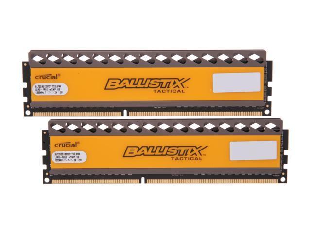 Crucial Ballistix Tactical 4GB (2 x 2GB) 240-Pin DDR3 SDRAM DDR3 1333 (PC3 10600) Desktop Memory Model BLT2KIT2G3D1337DT1TX0