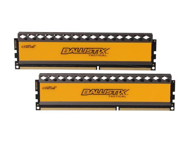 Crucial Ballistix Tactical 4GB (2 x 2GB) 240-Pin DDR3 SDRAM DDR3 1600 (PC3 12800) Desktop Memory Model BLT2KIT2G3D1608DT1TX0