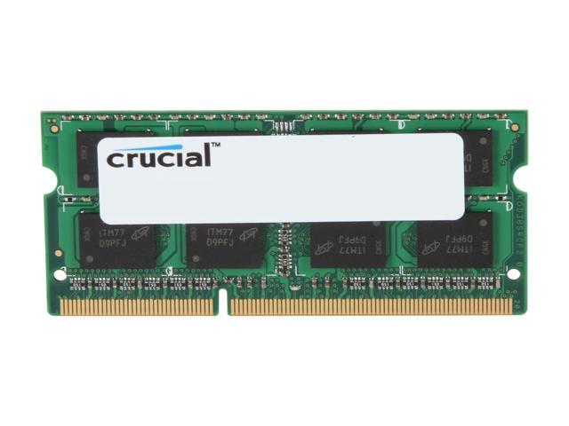 Crucial 4GB 204-Pin DDR3 SO-DIMM DDR3L 1333 (PC3L 10600) Laptop Memory Model CT51264BF1339