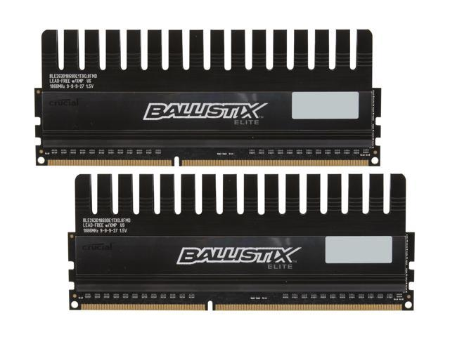 Crucial Ballistix 4GB (2 x 2GB) 240-Pin DDR3 SDRAM DDR3 1866 (PC3 14900) Desktop Memory Model BLE2KIT2G3D1869DE1TX0