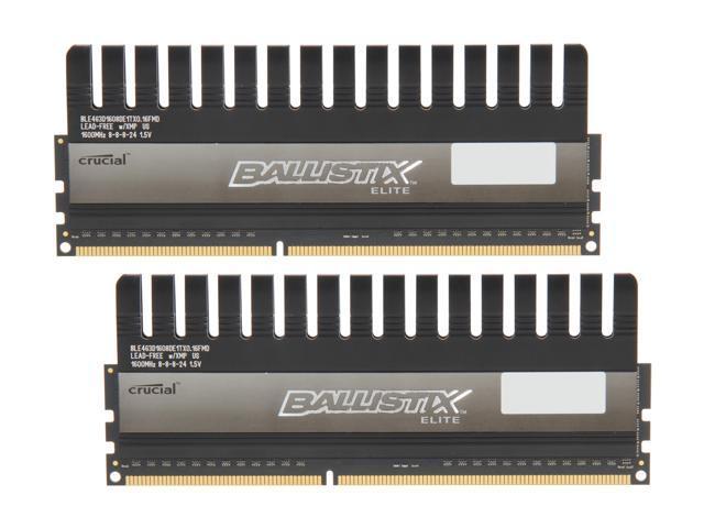 Crucial Ballistix Elite 8GB (2 x 4GB) 240-Pin DDR3 SDRAM DDR3 1600 (PC3 12800) Desktop Memory Model BLE2KIT4G3D1608DE1TX0