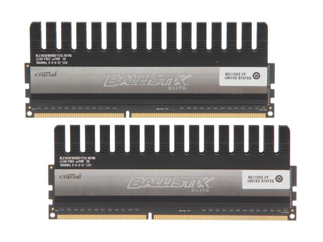 Ballistix 8GB (2 x 4GB) 240-Pin DDR3 SDRAM DDR3 1866 (PC3 14900) Desktop Memory Model BLE2KIT4G3D1869DE1TX0