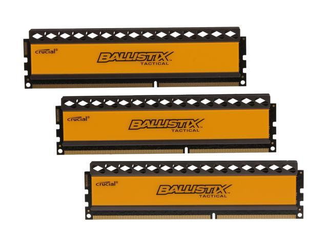 Crucial Ballistix 6GB (3 x 2GB) 240-Pin DDR3 SDRAM DDR3 1333 (PC3 10600) Desktop Memory Model BLT3KIT2G3D1337DT1TX0