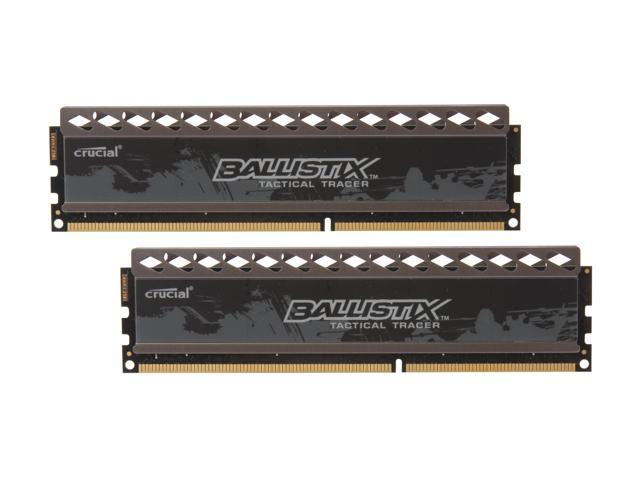 Crucial Ballistix Tactical Tracer 4GB (2 x 2GB) 240-Pin DDR3 SDRAM DDR3 1600 (PC3 12800) Desktop Memory (with Red/Green Light) ...
