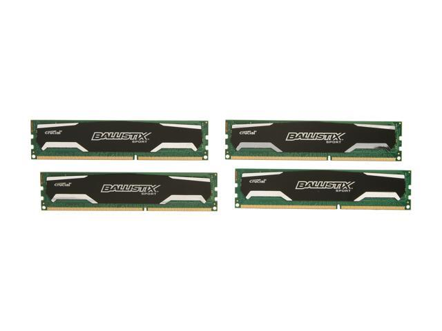 Crucial Ballistix 8GB (4 x 2GB) 240-Pin DDR3 SDRAM DDR3 1600 (PC3 12800) Desktop Memory Model BLS4KIT2G3D1609DS1S00