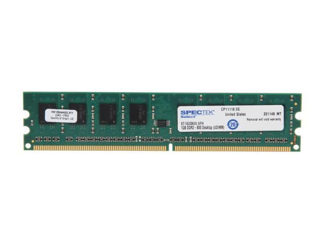 SPECTEK by Micron Technology 1GB 240-Pin DDR2 SDRAM DDR2 800 (PC2 6400) Desktop Memory Model ST1G2D800