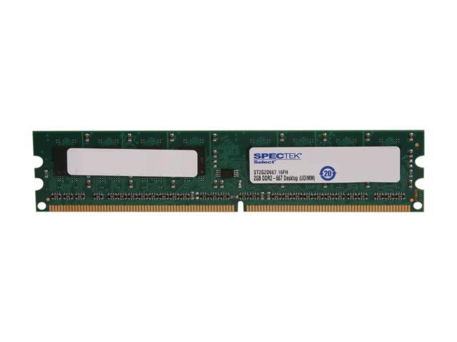 SPECTEK by Micron Technology 2GB 240-Pin DDR2 SDRAM DDR2 667 (PC2 5300) Desktop Memory Model ST2G2D667