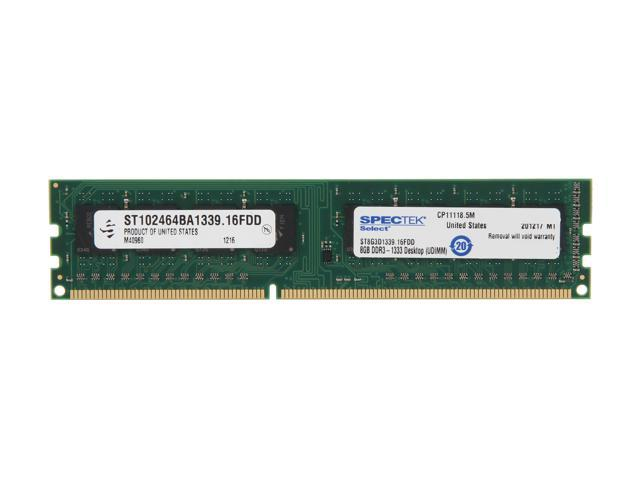 SPECTEK by Micron Technology 8GB 240-Pin DDR3 SDRAM DDR3 1333 (PC3 10600) Desktop Memory Model ST8G3D1339