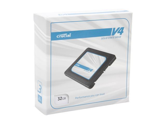 "Crucial V4 2.5"" 32GB SATA II MLC Internal Solid State Drive (SSD) with Easy Desktop Install Kit CT032V4SSD2BAA"