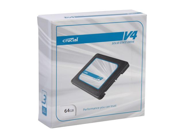 "Crucial V4 2.5"" 64GB SATA II MLC Internal Solid State Drive (SSD) with Easy Laptop Install Kit CT064V4SSD2CCA"