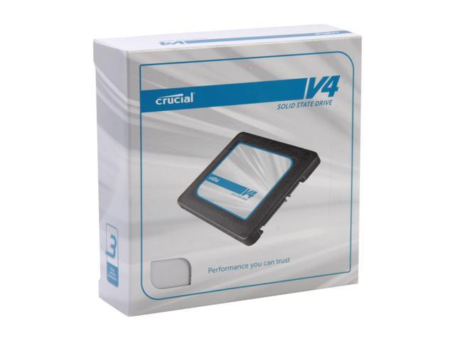 "Crucial V4 2.5"" 128GB SATA II MLC Internal Solid State Drive (SSD) with Easy Desktop Install Kit CT128V4SSD2BAA"