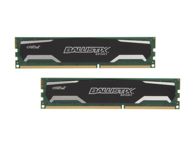 Crucial Ballistix Sport 16GB (2 x 8GB) 240-Pin DDR3 SDRAM DDR3 1333 (PC3 10600) Desktop Memory Model BLS2KIT8G3D1339DS1S00