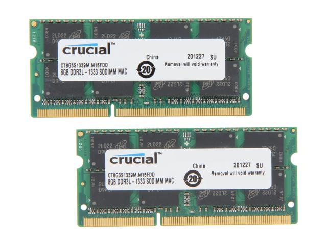 Crucial 16GB (2 x 8GB) DDR3 1333 (PC3 10600) Memory for Apple Model CT2K8G3S1339M