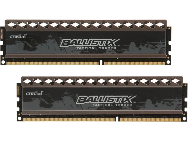 Crucial Ballistix Tactical 16GB (2 x 8GB) 240-Pin DDR3 SDRAM DDR3 1600 (PC3 12800) Desktop Memory Model BLT2KIT8G3D1608DT2TXRG