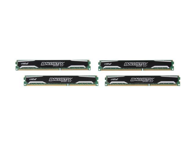 Crucial Ballistix Sport 16GB (4 x 4GB) 240-Pin DDR3 SDRAM DDR3L 1600 (PC3L 12800) Low Profile Desktop Memory Model BLS4K4G3D1609ES2LX0
