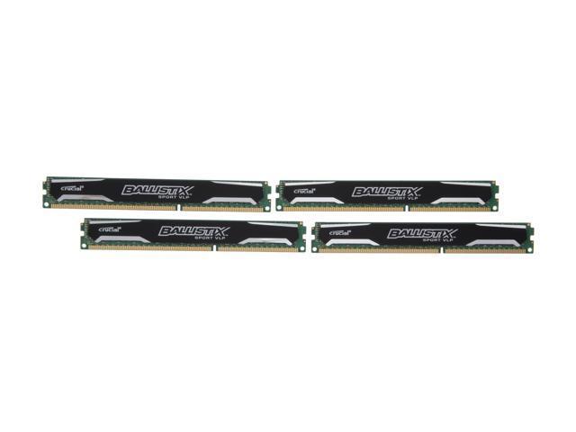 Crucial Ballistix Sport 32GB (4 x 8GB) 240-Pin DDR3 SDRAM DDR3 1600 (PC3 12800) Low Profile Desktop Memory Model BLS4K8G3D1609ES2LX0