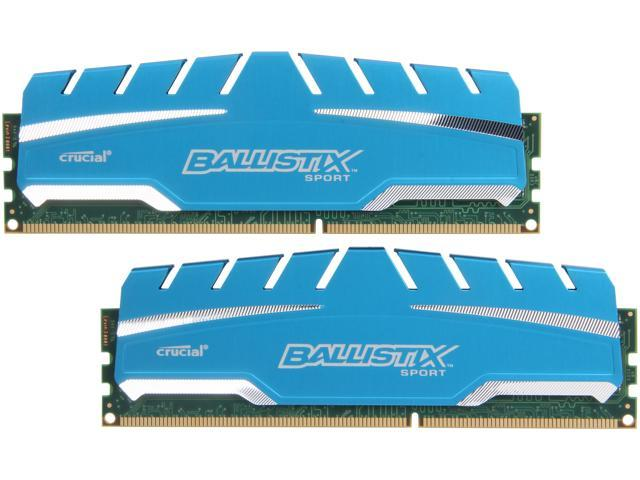 Ballistix Sport 8GB (2 x 4GB) 240-Pin DDR3 SDRAM DDR3 1600 (PC3 12800) Desktop Memory Model BLS2K4G3D169DS3
