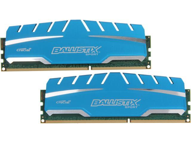 Ballistix Sport XT 16GB (2 x 8GB) 240-Pin DDR3 SDRAM DDR3 1600 (PC3 12800) Desktop Memory Model BLS2K8G3D169DS3