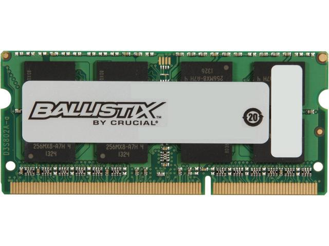 Crucial Ballistix Sport SODIMM 4GB 204-Pin DDR3 SO-DIMM DDR3 1866 (PC3 14900) Laptop Memory Model BLS4G3N18AES4
