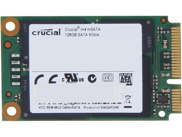Manufacturer Recertified Crucial M4 128GB Mini-SATA (mSATA) MLC Internal Solid State Drive (SSD) CT128M4SSD3