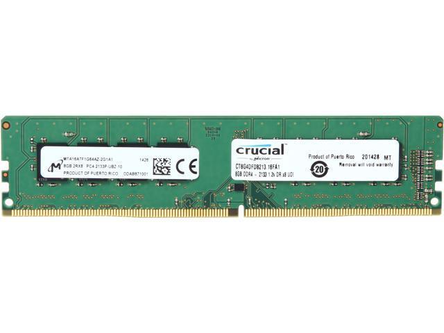 Crucial 8GB 288-Pin DDR4 SDRAM DDR4 2133 (PC4 17000) Desktop Memory Model CT8G4DFD8213
