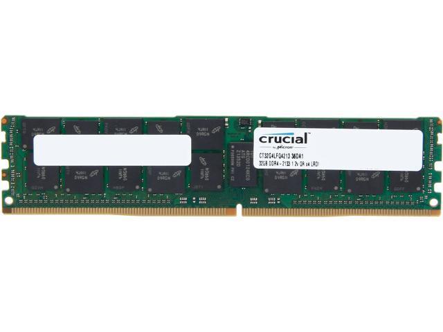 Crucial 32GB 288-Pin DDR4 SDRAM ECC DDR4 2133 (PC4 17000) Server Memory Model CT32G4LFQ4213