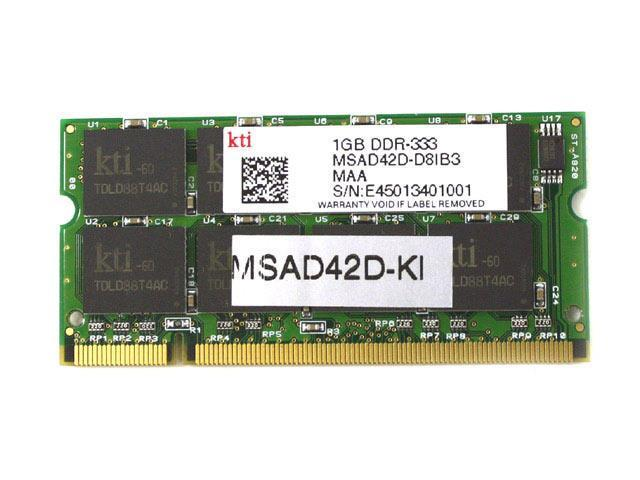 KINGMAX 1GB 200-Pin DDR SO-DIMM DDR 333 (PC 2700) Laptop Memory Model MSAD42F-KI