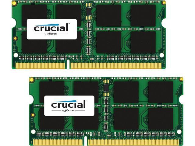 Crucial 16GB (2 x 8GB) DDR3L 1866 (PC3L 14900) Unbuffered Memory for Mac Model CT2K8G3S186DM