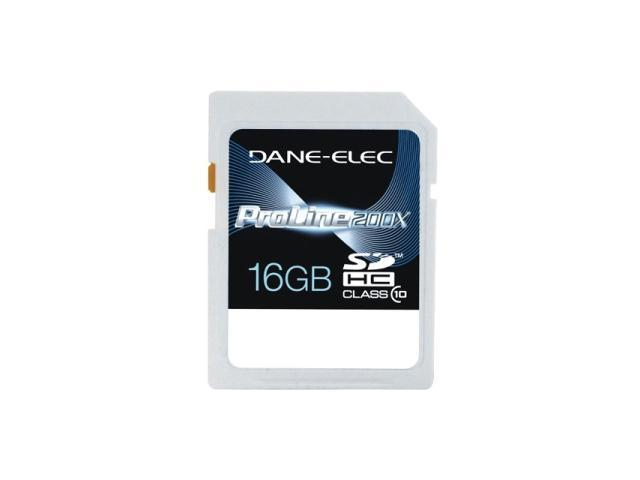 DANE-ELEC 16GB Secure Digital High-Capacity (SDHC) Flash Card Model DASD1016GC