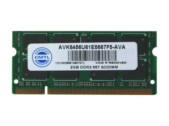 AllComponents 2GB 200-Pin DDR2 SO-DIMM DDR2 667 (PC2 5300) Laptop Memory Model AC2/SO667X64/2048