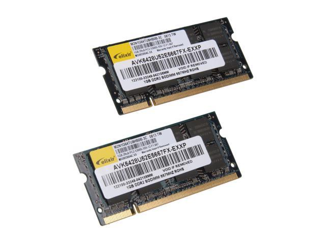 AllComponents 2GB (2 x 1GB) 200-Pin DDR2 SO-DIMM DDR2 667 (PC2 5300) Dual Channel Kit Laptop Memory Model AC2/SO667X64/2048KIT
