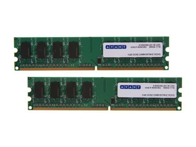 AllComponents 2GB (2 x 1GB) 240-Pin DDR2 SDRAM DDR2 667 (PC2 5300) Dual Channel Kit Desktop Memory Model AC2/667X64/2048-KIT