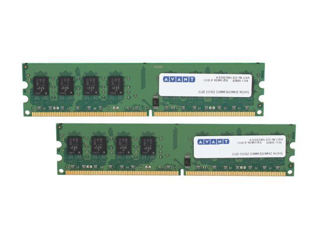 AllComponents 4GB (2 x 2GB) 240-Pin DDR2 SDRAM DDR2 800 (PC2 6400) Dual Channel Kit Desktop Memory Model AC2/800X64/4096-KIT