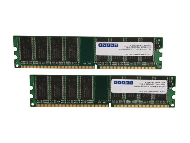 AllComponents 2GB (2 x 1GB) 184-Pin DDR SDRAM DDR 400 (PC 3200) Dual Channel Kit Desktop Memory Model AC400X64/2048-KIT