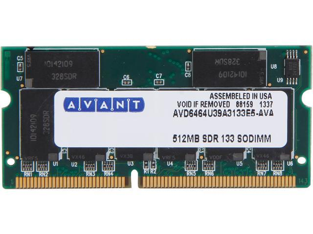 AllComponents 512MB 144-Pin SO-DIMM PC 133 Laptop Memory Model ACSO133X64/512 - OEM