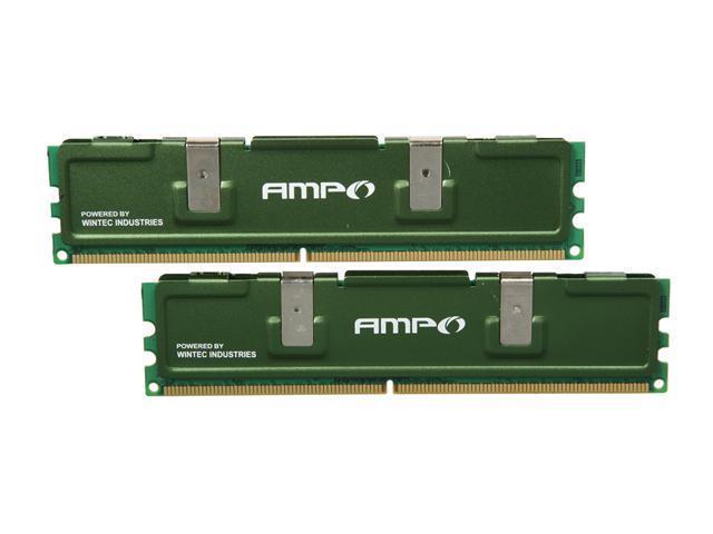 Wintec AMPO 2GB (2 x 1GB) 240-Pin DDR2 SDRAM DDR2 800 (PC2 6400) Desktop Memory Model 3AMD2800-2G2K-R