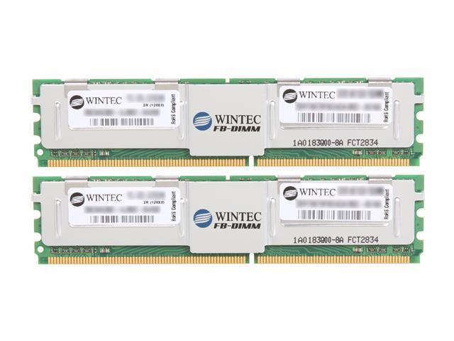 Wintec 4GB (2 x 2GB) ECC Fully Buffered DDR2 667 (PC2 5300) Dual Channel Kit Server Memory Model 3SRT6679FBD4GK