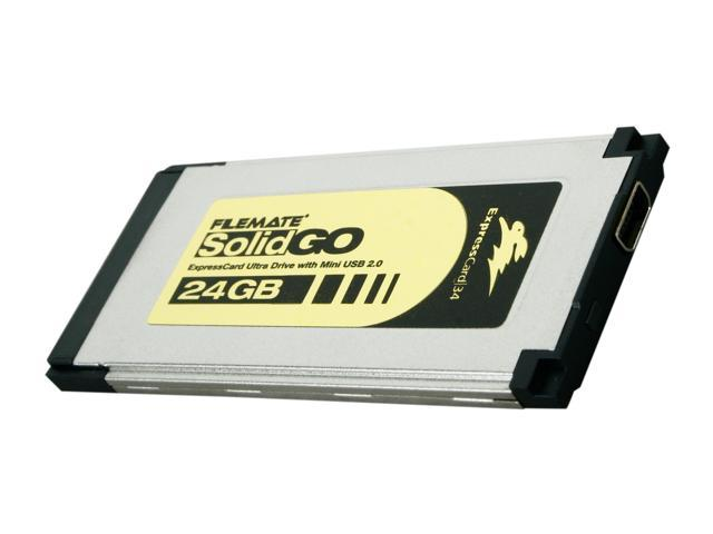Wintec FileMate SolidGO 24GB ExpressCard 34 with Mini USB 2.0 External Solid State Drive (SSD) 3FMS4D24M-WR