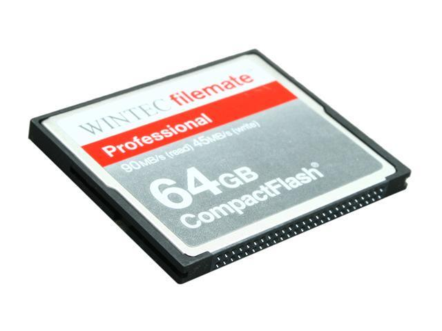 Wintec FileMate Professional 64GB Compact Flash (CF) Flash Card Model 3FMCF64GBP-R