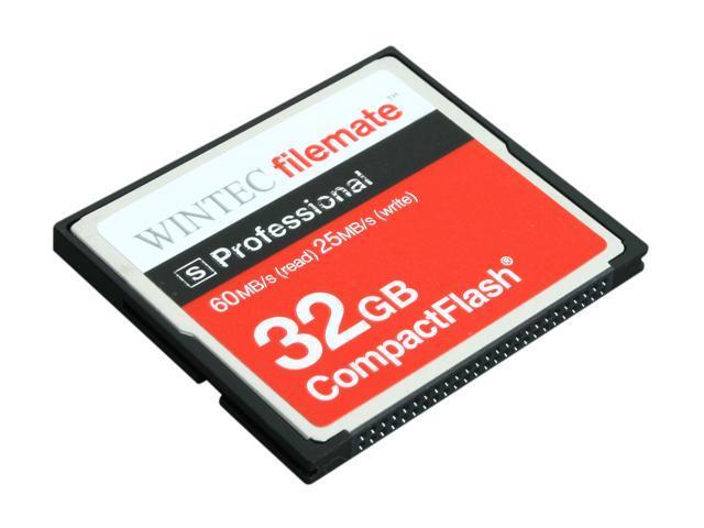 Wintec FileMate S Professional 32GB Compact Flash (CF) Flash Card Model 3FMCF32GBS-R