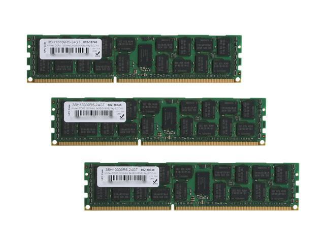 Wintec 24GB (3 x 8GB) 240-Pin DDR3 SDRAM ECC Registered DDR3 1333 (PC3 10666) Server Memory Model 3SH13339R5-24GT